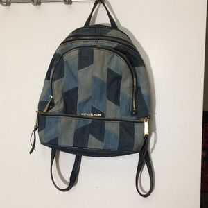 Michael Kors denim backpack. Rare find
